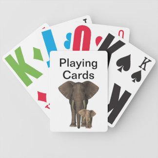 Vision empeoró elefantes barajas de cartas