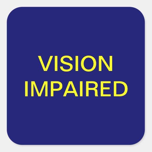Vision empeoró etiquetas médicas de la carta pegatina cuadrada