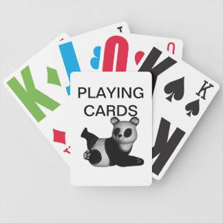 Vision empeoró naipes de la panda barajas de cartas