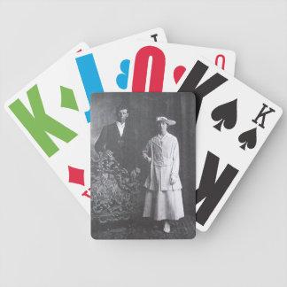 Vision empeoró naipes del vintage baraja cartas de poker