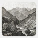 Visión en la Cordillera Pegatinas Cuadradas Personalizadas