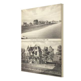 Visión en Reids Villa Park y residencia Impresión En Lienzo Estirada