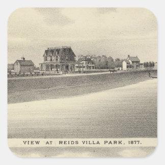 Visión en Reids Villa Park y residencia Pegatina Cuadrada
