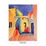 Visión en un callejón, por Macke agosto Tarjeta Postal