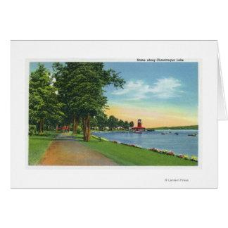 Visión escénica a lo largo del lago tarjeta de felicitación