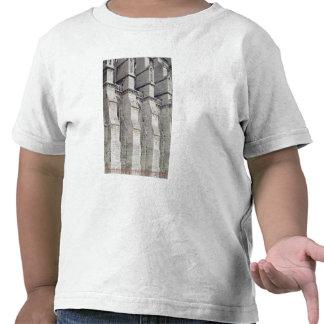 Visión exterior que muestra los contrafuertes camiseta