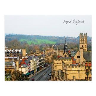Visión fantástica, Oxford, Inglaterra, calle Tarjeta Postal