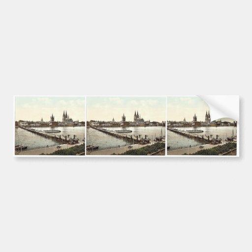 Visión general, Colonia, el Rin, obra clásica de A Pegatina De Parachoque