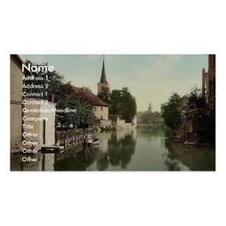 Visión general, Erfurt, Thuringia, Alemania P clás Tarjetas De Visita