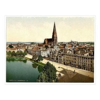 Visión general, Schwerin, Mecklenburg-Schwerin, ge Tarjetas Postales