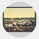 Visión general, vintage Photochro de Montpelier, Etiqueta Redonda