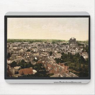 Visión general, vintage Photochrom de Abbeville, F Alfombrillas De Ratón