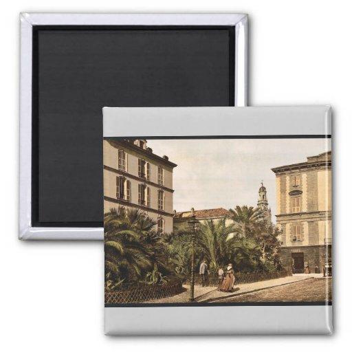 Visión general, vintage Photochrom de San Remo, Ri Imán Cuadrado
