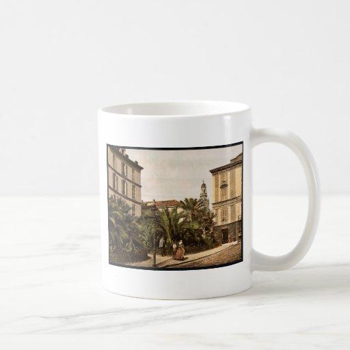 Visión general, vintage Photochrom de San Remo, Ri Taza Básica Blanca