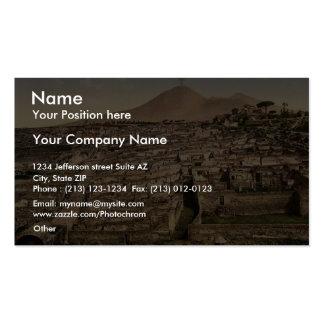 Visión general y vintage de Vesuvio, Pompeya, Ital Plantillas De Tarjetas De Visita
