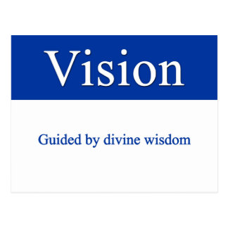 Vision - Guided by divine wisdom Postcard