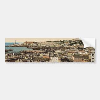 Visión hacia el faro, obra clásica de Génova, Ital Etiqueta De Parachoque