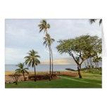 Visión hacia la bahía de Maalaea de Kihei, Maui Felicitaciones