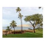 Visión hacia la bahía de Maalaea de Kihei, Maui Postal