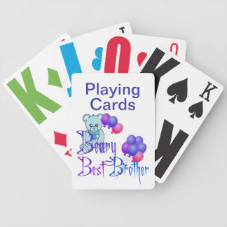 Vision Impaired Brother Bicycle Playing Cards