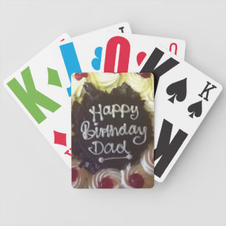 Vision Impaired Dad Bicycle Playing Cards