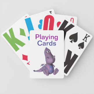 Vision Impaired Dinosaur Bicycle Playing Cards