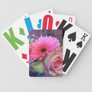 Vision Impaired floral bouquet Bicycle Playing Cards