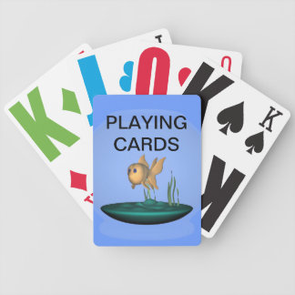 Vision Impaired  Goldfish Playing Cards