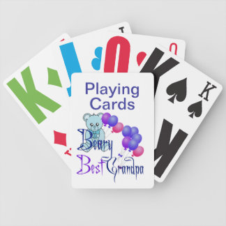 Vision Impaired Grandpa Bicycle Playing Cards