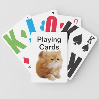 Vision Impaired Kitten Bicycle Playing Cards