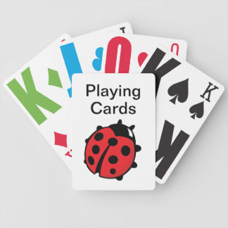 Vision Impaired Lady Bug Bicycle Playing Cards
