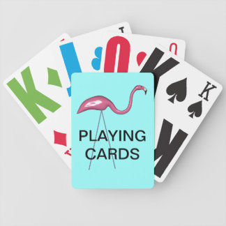 Vision Impaired Pink Stork Playing Cards