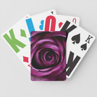 Vision Impaired Purple Rose Bicycle Playing Cards