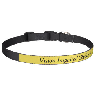 Vision Impaired Student in Training Dog Collar