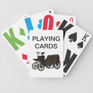 Vision Impaired Vintage Car Playing Cards