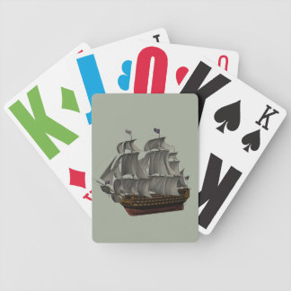 Vision Impaired Vintage Ship Bicycle Playing Cards