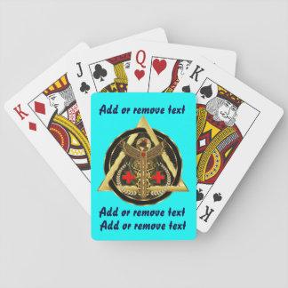 Visión importante universal médica sobre diseño barajas de cartas