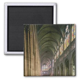 Visión interior que mira abajo del cubo imán para frigorifico