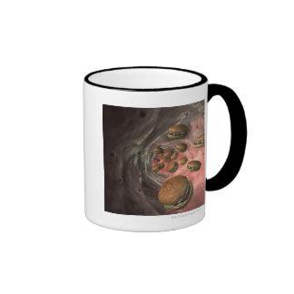Visión interior taza de café