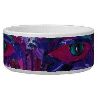 Vision interno magenta y violeta de la vista - tazon para perro