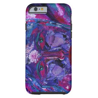 Vision interno magenta y violeta de la vista - funda para iPhone 6 tough