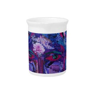 Vision interno magenta y violeta de la vista - jarras para bebida