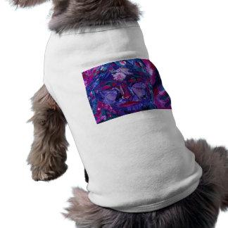 Vision interno magenta y violeta de la vista - playera sin mangas para perro