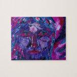 Vision interno magenta y violeta de la vista - puzzles