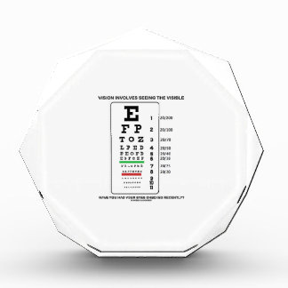 Vision Involves Seeing The Visible Snellen Chart Award