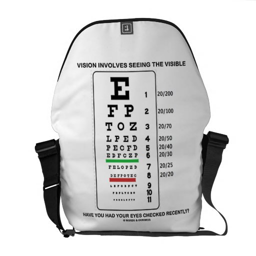 Vision Involves Seeing The Visible Snellen Chart Courier Bag