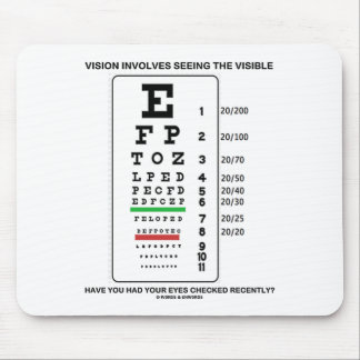 Vision Involves Seeing The Visible Snellen Chart Mouse Pads