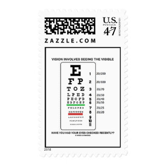 Vision Involves Seeing The Visible (Snellen Chart) Postage