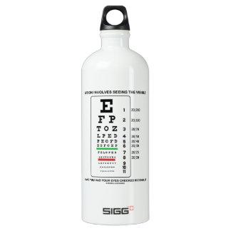 Vision Involves Seeing The Visible (Snellen Chart) SIGG Traveler 1.0L Water Bottle