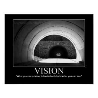 VISION Large Poster -Tunnel Motivational